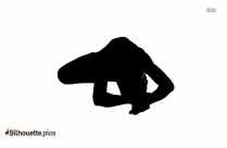 Head To Knee Pose Silhouette Clipart