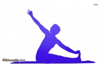 Lady Yoga Pose Silhouette Image And Vector