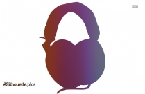 Headphones Vector Clipart Silhouette