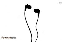 Cartoon Headphones Silhouette Image