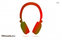 Headphones Cartoon Silhouette Clipart