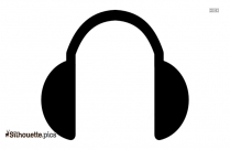 Cartoon Headphones Silhouette