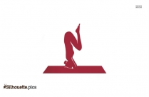 Backbend Yoga Pose Silhouette Vector And Graphics