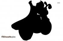 Cartoon Hot Dog Silhouette