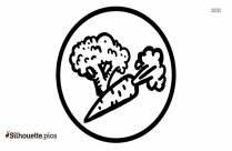 Healthy Vegetables Silhouette Icon