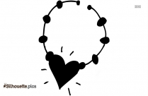 Rhinestone Necklace And Earrings Silhouette Picture