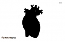 Funny Love Heart Cartoon Silhouette