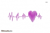 Heart Rate Silhouette Clipart