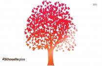 Cartoon Tree Blossom Vector Silhouette