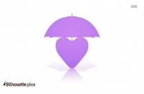 Heart Umbrella Silhouette Vector And Graphics