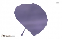 Heart Umbrella Silhouette Vector And Graphics Illustration