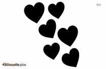 Hearts Silhouette Illustration