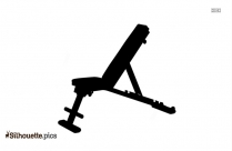 Black And White Mini Stair Stepper Silhouette
