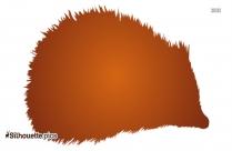 Silhouette Of Hedgehog