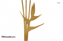 Heliconia Flower Design Silhouette