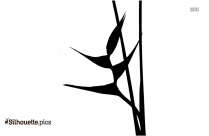 Heliconia Flower Silhouette Icon