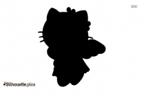 Cartoon Hello Kitty Party Silhouette