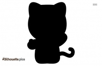 Hello Kitty Silhouette Vector Png
