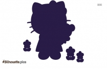 Hello Kitty Silhouette Art