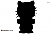 Hello Kitty Girl Silhouette Silhouette