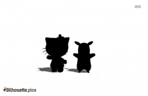 Hello Kitty Baby Silhouette Background