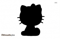 Hello Kitty Face Silhouette Drawing