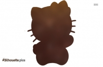 Hello Kitty Face Silhouette