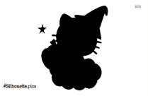 Black And White Hello Kitty Birthday Silhouette