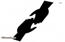 Handshake Silhouette, Shaking Hands Free Vector Art