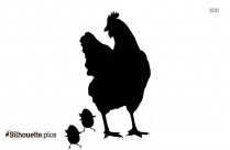 Turkey And Chick Clipart Silhouette