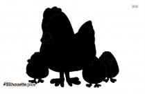 Hen And Chicks Silhouette Clipart