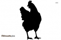 Hen Silhouette Drawing