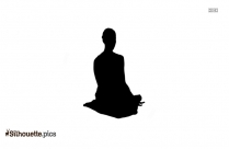 Utkatasana Clipart, Chair Yoga Pose Silhouette