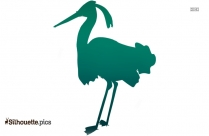 Heron Silhouette Drawing