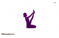Black And White Female Yoga Pose Silhouette