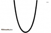 Black Byzantine Chain Silhouette Image