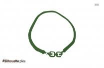 Herringbone Necklace Silhouette Image