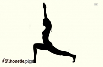 High Lunge Yoga Pose - Forte Yoga Silhouette