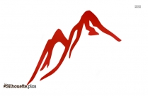 Hill And Cycle Clipart Silhouette