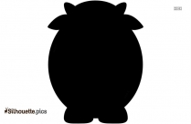 Baby Cow Silhouette Background