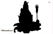 Hindu God Silhouette Vector