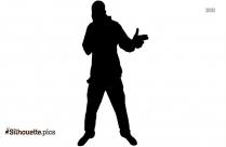 Bhangra Dancer Silhouette Image