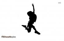 Dancing Girl Cartoon Silhouette
