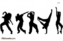 Hip Pop Dance Silhouette Image