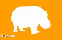 Cartoon Rhino Silhouette Clipart