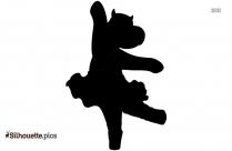 Ballet Girl Dancer Jumping Silhouette