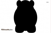 Hippo Clipart Black And White Silhouette