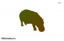 Hippopotamus Silhouette Image