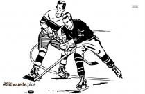 Hockey Playing Clipart Silhouette
