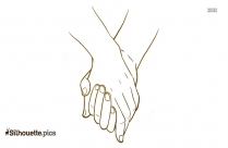 Heart Hand Shaking Symbol Silhouette Icon